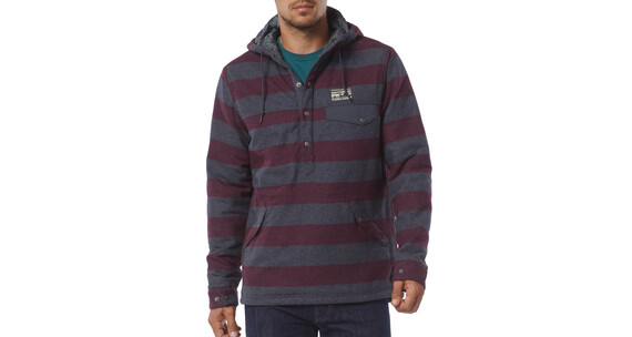 Patagonia M's Reclaimed Wool Snap-T Pullover California Wild Stripe/Oxblood Red